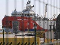 Oruç Reis sismik arama gemisi, yeniden Antalya Limanı'na demirledi