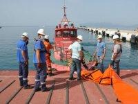 Ege Port Limanı'nda deniz kirliliğine müdahale tatbikatı yapıldı