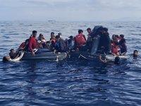 İzmir'de 78 düzensiz göçmen kurtarıldı