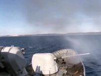 Türk Deniz Kuvvetleri, Saros Körfezi'nde atış eğitimi gerçekleştirildi