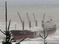 MERCURY OCEAN isimli gemi, fırtınada sürüklenerek karaya oturdu