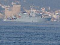 NATO savaş gemileri, peş peşe Çanakkale Boğazı'ndan geçti