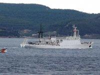 Rus istihbarat gemisi 'Donuzlav', Çanakkale Boğazı'ndan geçti