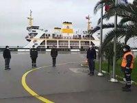 İDO, Ata'mıza saygı için denizde hayatı 2 dakika durdurdu