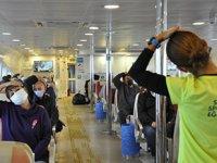 İBB Şehir Hatları'nda 'Vapurda Spor Projesi' hayata geçirildi