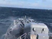 Deniz Kuvvetleri'ne bağlı gemiler, her şartta faaliyetlerine devam ediyor