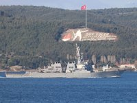USS Donald Cook isimli ABD savaş gemisi, Çanakkale Boğazı'ndan geçti