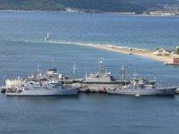 NATO'ya bağlı gemiler, Çanakkale'ye liman ziyareti gerçekleştirdi