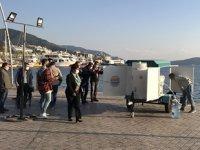 Marmaris'te 'Acil Durum Deniz Suyu Arıtma Sistemi' devreye alındı