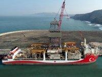 'Kanuni' sondaj gemisinin sökülen kulesi monte edildi