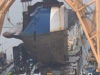 Brunswick Limanı'nda batan Golden Ray gemisi, parçalara ayrılıyor