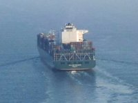 'CMA CGM MISSOURI' isimli dev konteyner gemisi, İstanbul Boğazı'ndan geçti