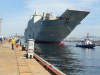 Türkiye'nin en büyük savaş gemisi TCG Anadolu'da sona gelindi