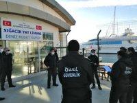 Teos Marina'da 'Deniz Yoluyla Olası Terör Eylemi Tatbikatı' yapıldı