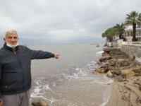 Ayvalık'ta kıyı erozyonu ürkütüyor
