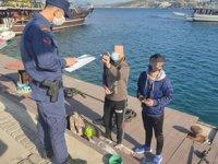 Sahil Güvenlik ekipleri, Kuşadası Körfezi'nde yılbaşı denetimi gerçekleştirdi