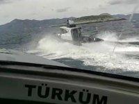 Türk karasularını ihlal eden Yunan botlarına Türk Sahil Güvenlik ekipleri 'Dur' dedi