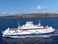 Gökçeada 1 gemisi, yeni renkleriyle yeniden Çanakkale'ye döndü