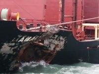 Qinzhou Limanı'nda iki yük gemisi çatıştı