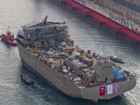 Sefine Tersanesi, GASØ HØVDING isimli canlı balık taşıma gemisini denize indirdi