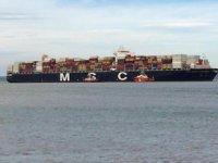 MSC Maria Saveria konteyner gemisi, Çanakkale Boğazı'nda arızalandı
