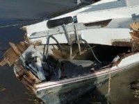 Hatay'da sağanak yağış nedeniyle balıkçı tekneleri zarar gördü