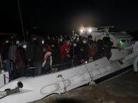 Çanakkale açıklarında 65 düzensiz göçmen kurtarıldı