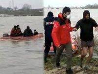 Yunanistan'ın Meriç Nehri'nde ölüme terk ettiği göçmenler kurtarıldı