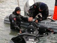 Enez'de tekneden düşen kişinin cansız bedenine ulaşıldı