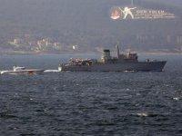 Yunan mayın tarama gemisi, Çanakkale Boğazı'ndan geçti