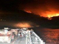 Aksaz Deniz Üs Komutanlığı'nda çıkan yangın söndürüldü