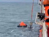 Karadeniz'de batan Volgo Balt 179 gemisi mürettebatının kurtarılma görüntüleri ortaya çıktı