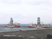 Fatih ve Kanuni sondaj gemileri, Filyos Limanı'nda buluştu