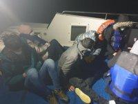 Çanakkale açıklarında 7 göçmen i kurtarıldı