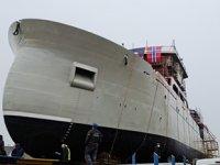 Çeksan Tersanesi, SKROVA canlı balık taşıma gemisini suya indirdi