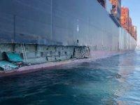 MSC TINA isimli konteyner gemisi, Marport Limanı'nda iskeleye çarptı