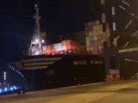 MSC TINA'nın kaza görüntülerine Deniz Haber Ajansı ulaştı