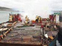 Şile Limanı'nda demirli teknede yangın çıktı
