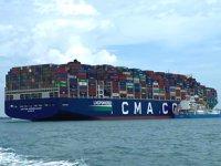CMA CGM Jacques Saade konteyner gemisi, rekor tazeledi