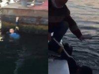 Haliç'te intihara kalkışan kişiyi tekne kaptanı kurtardı