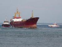 Bozcaada'da karaya oturan 'Banu-S' isimli gemi kurtarıldı