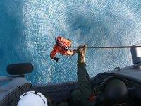Dalaman'da 'Helikopterle Denizden Personel Kurtarma Eğitimleri' gerçekleştirildi