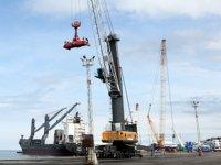 Novorossiysk Limanı'nın vinçlerinin kurulumu Trabzon Limanı'nda yapılacak