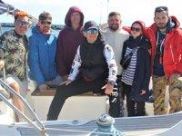 Rus turistler, yelkenli tekne ile Sinop'a geldi