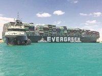 Süveyş Kanalı'nı kapatan geminin sahibi, tazminatı yükün sahipleriyle paylaşmak istiyor