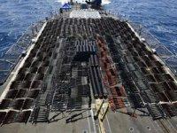Umman Denizi'nde bir gemide kaçak silahlara el konuldu