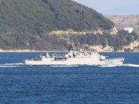 Fransız savaş gemisi, Çanakkale Boğazı'ndan geçti