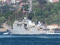Fransız savaş gemisi, İstanbul Boğazı'ndan geçti