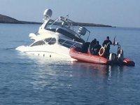 Çaypo isimli lüks yat karaya oturdu, 6 kişi kurtarıldı