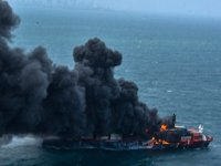 5 gündür yanan X-Press Pearl isimli gemide patlama meydana geldi